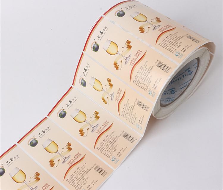 卷筒瓶标印刷